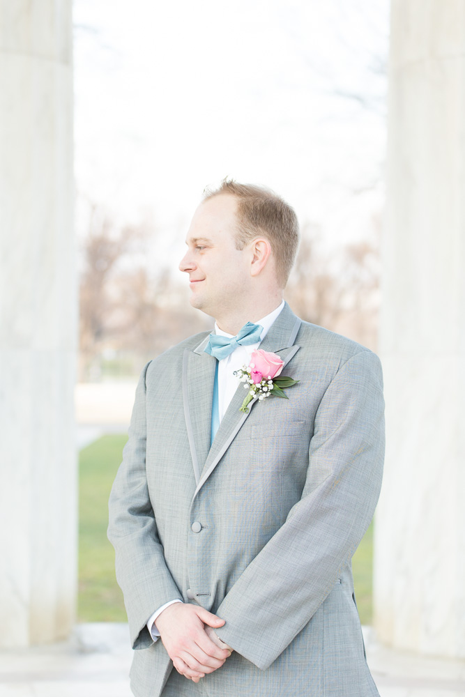 The groom looking happy on his wedding day | Washington, DC Wedding Photography