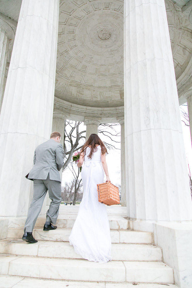 Cute spring wedding with a picnic in Washington, DC | Megan Rei Photography