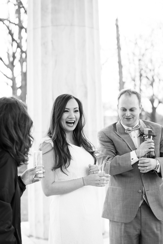 Popping the champagne | Megan Rei Photography | Photojournalistic style wedding photography | Washington DC Wedding Photography