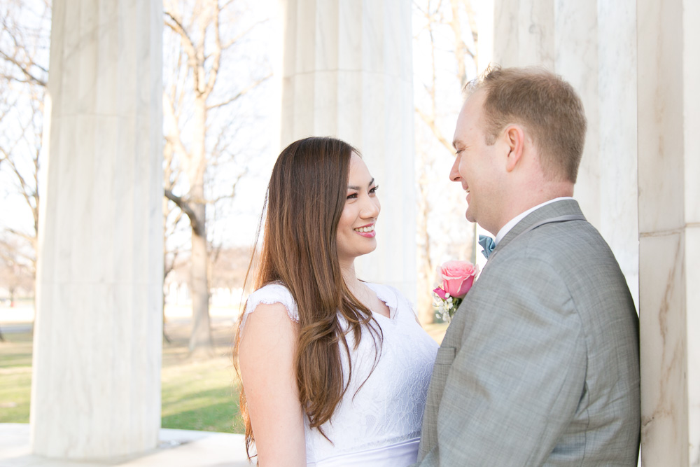 The happy couple at their spring wedding in Washington, DC | Northern Virginia Wedding Photography | Megan Rei Photography