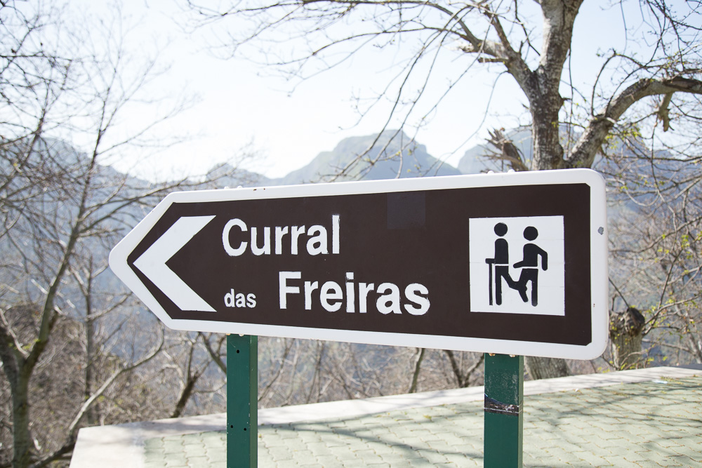 Sign for Curral das Freiras