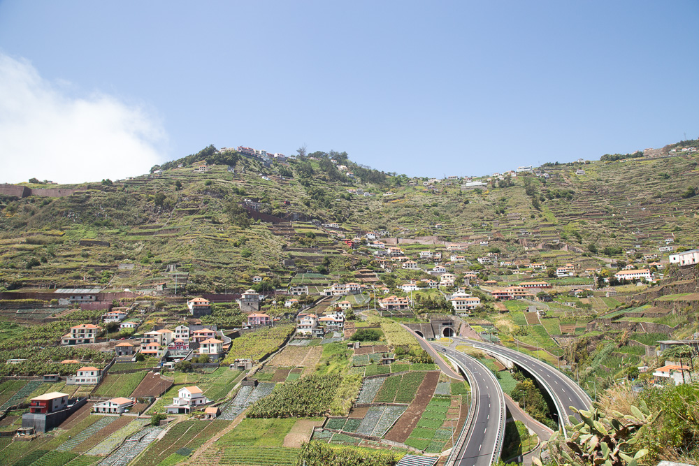 Beautiful views while driving across Madeira