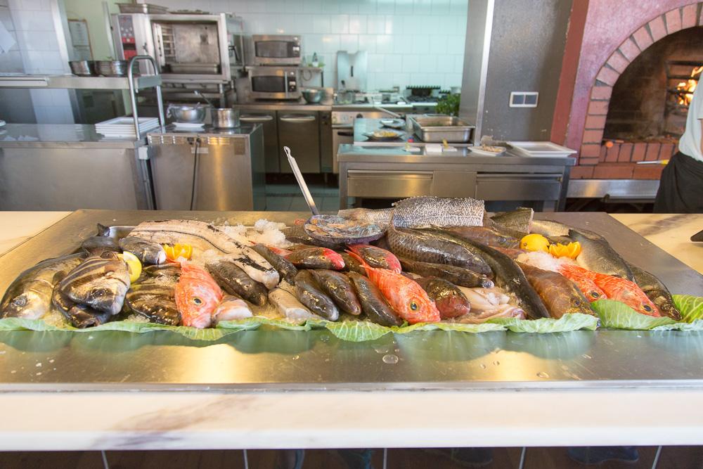 Fish selection at Vila do Peixe Restaurant in Câmara de Lobos