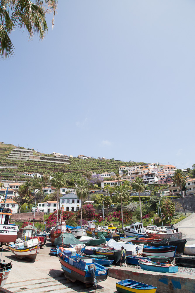 Colorful boats in Câmara de Lobos, Madeira