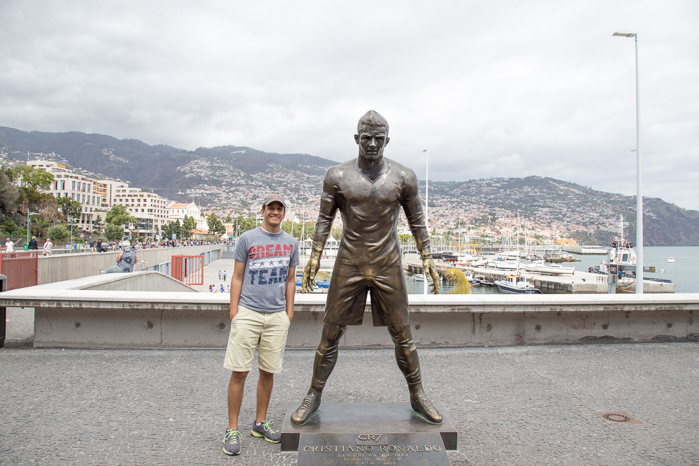 Statue of Cristiano Ronaldo outside of his museum in Funchal