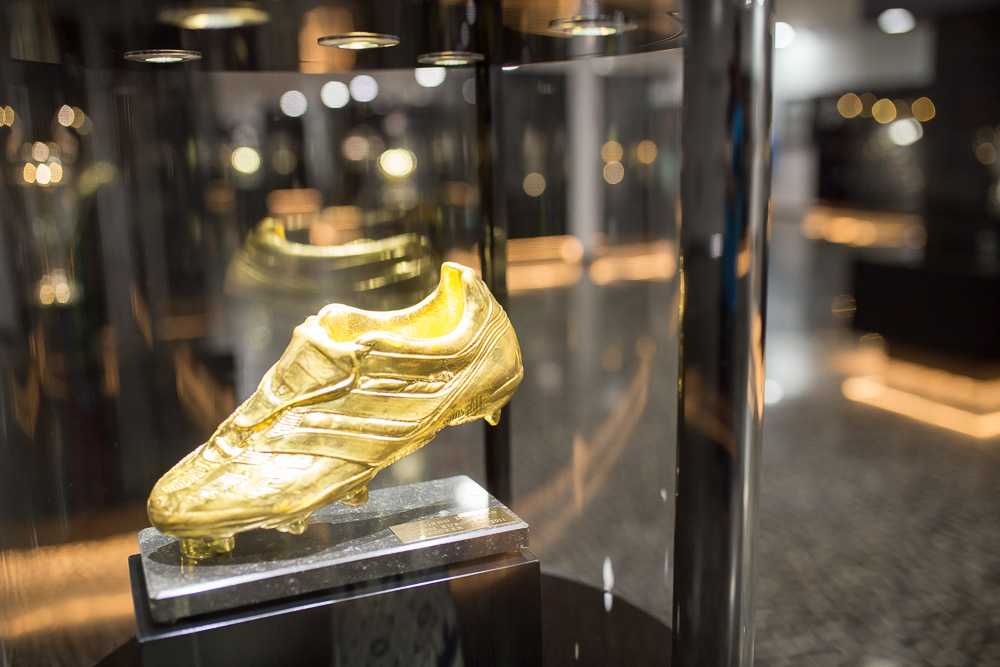 Cristiano Ronaldo Golden Boot at the CR7 Museum