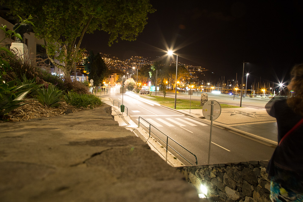 Funchal, Madeira at night