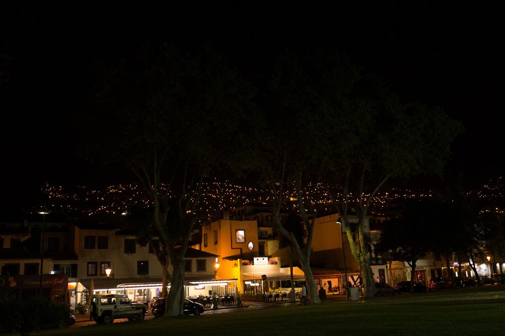 Funchal, Madeira at night