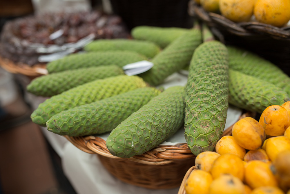 Pineapple-banana hybrids at Mercado dos Lavradores, Funchal | Megan Rei Photography | Travel Photos