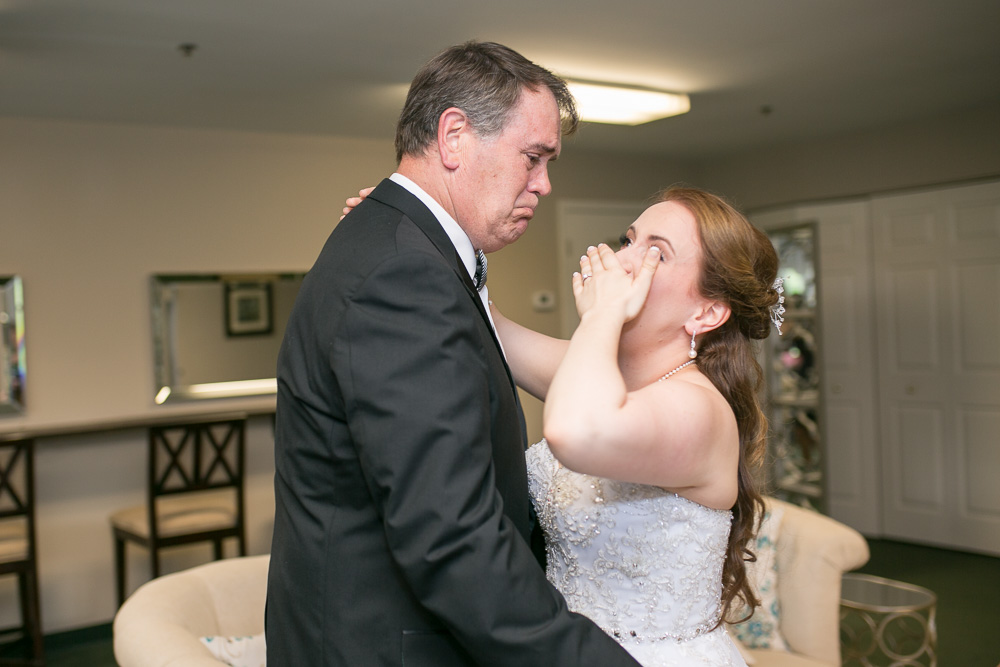 An emotional father-daughter first look in Haymarket, Virginia | DC Wedding Photography