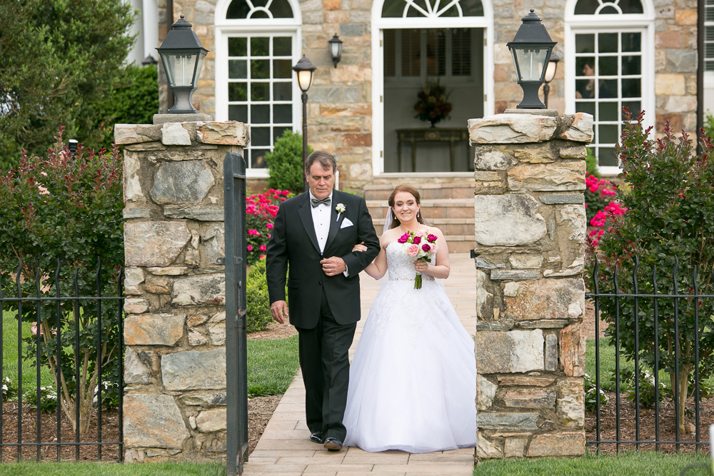 Bride and her dad walking down the aisle | Megan Rei Photography | DC Wedding Photographer