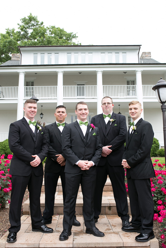 Groomsmen at Evergreen Country Club