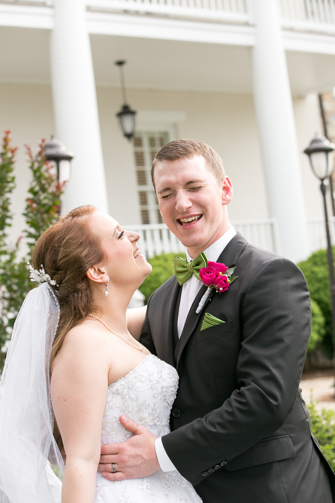 Bride and groom having fun during wedding photos | Candid wedding photographer | Haymarket, Virginia