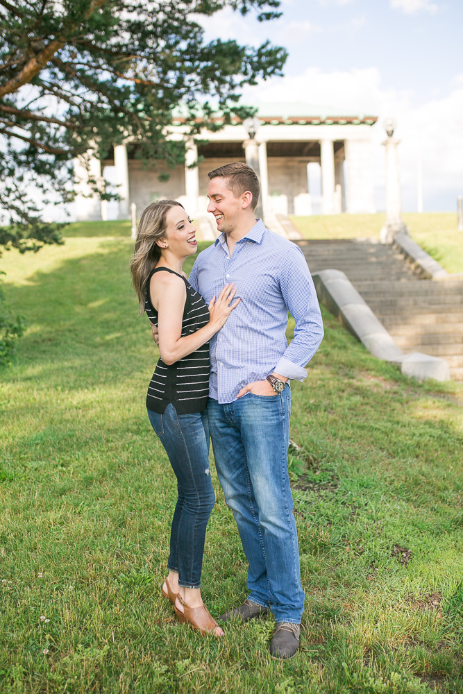 Candid engagement photography capturing real moments | Megan Rei Photography | Rochester, NY