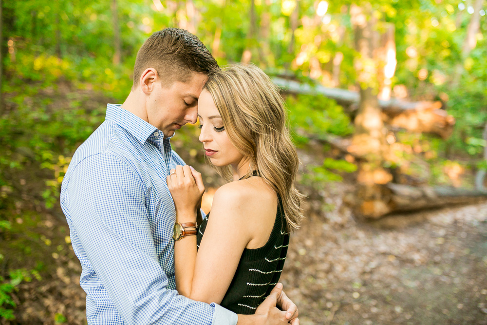 Megan Rei Photography | Rochester, NY Wedding Photographer | Engagement photos in the woods