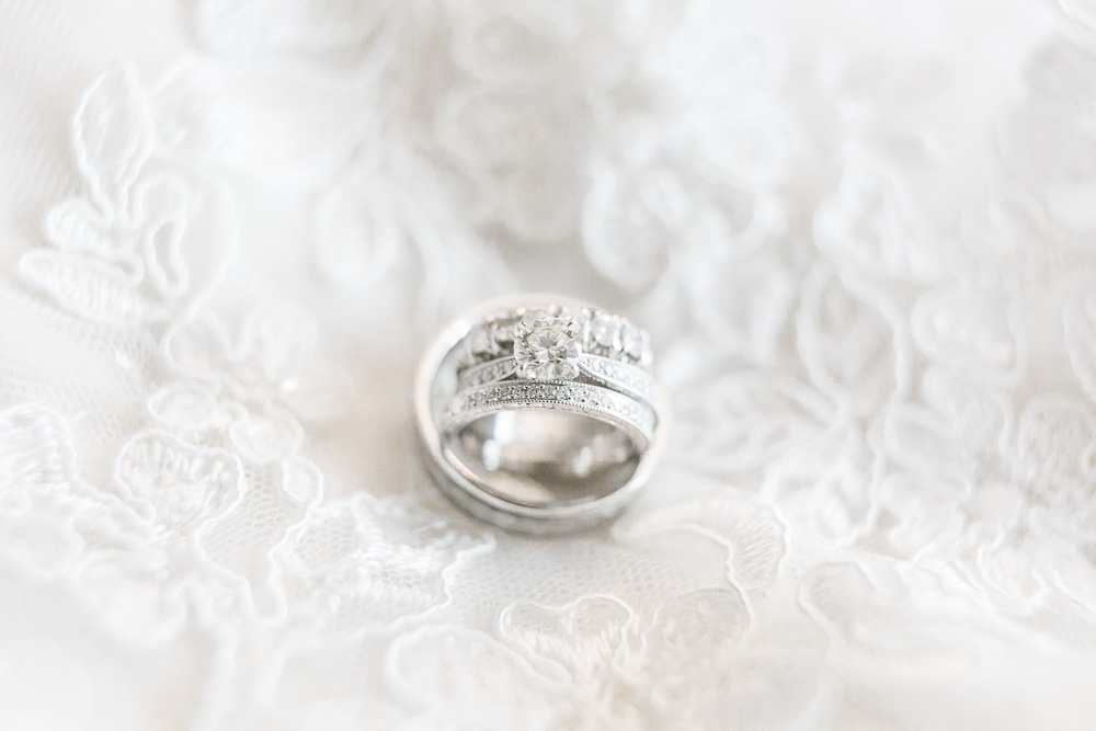 Wedding rings and engagement ring | Rochester, New York Wedding Photographer | Megan Rei Photography