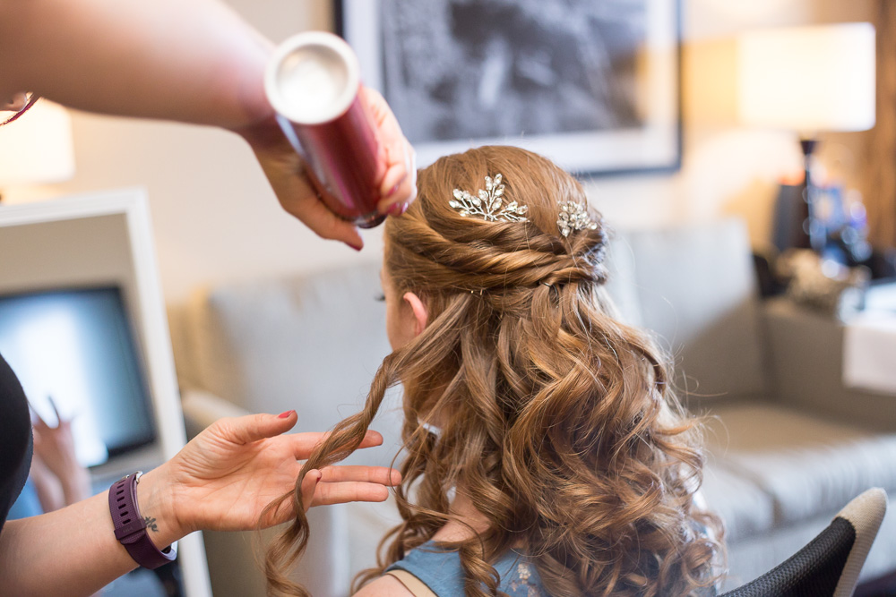 Bridal hair by April Sunshine | Megan Rei Photography | Rochester Wedding Hairstylist