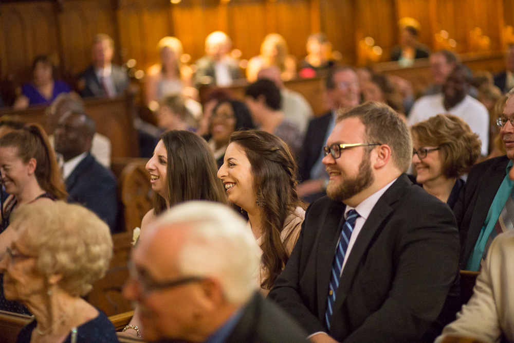 Wedding guests watching the ceremony at Chapel Hill | Candid Wedding Photographer | Megan Rei Photography