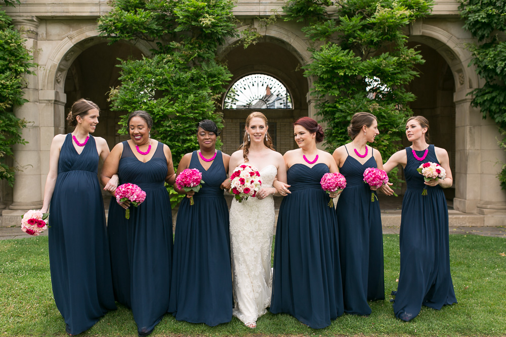 Bridal party at George Eastman Museum | Documentary Rochester Wedding Photographer | Megan Rei Photography