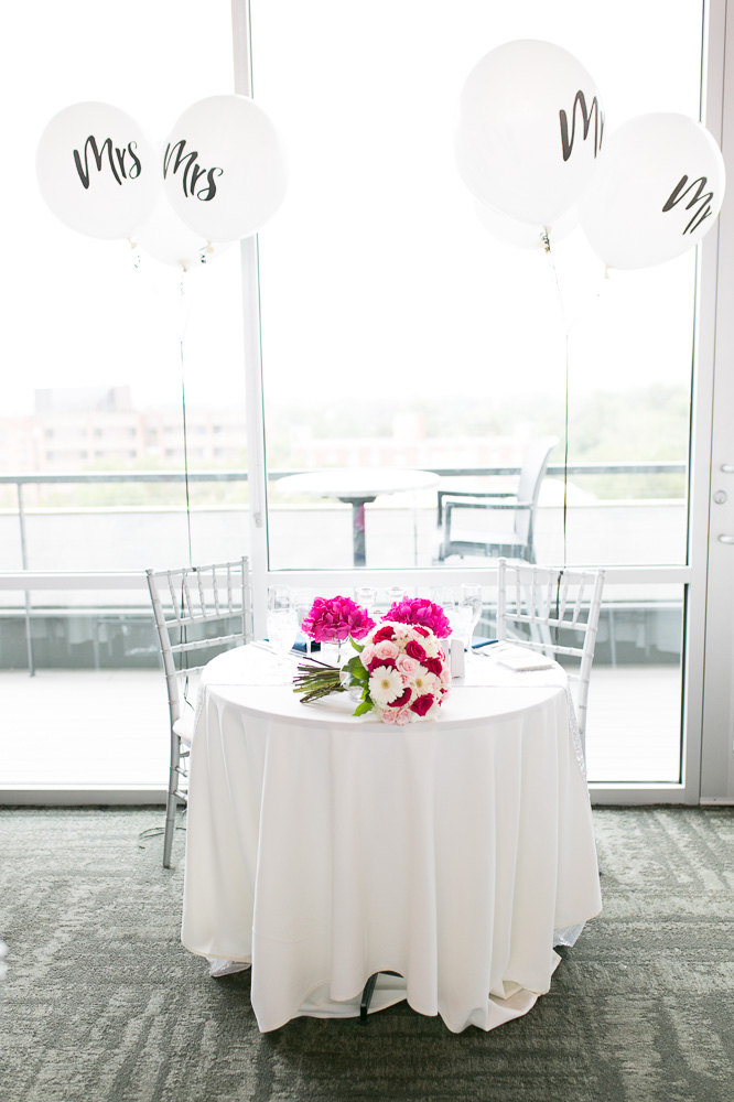 Wedding balloons at the sweetheart table | The Strathallan Wedding Photos | Megan Rei Photography