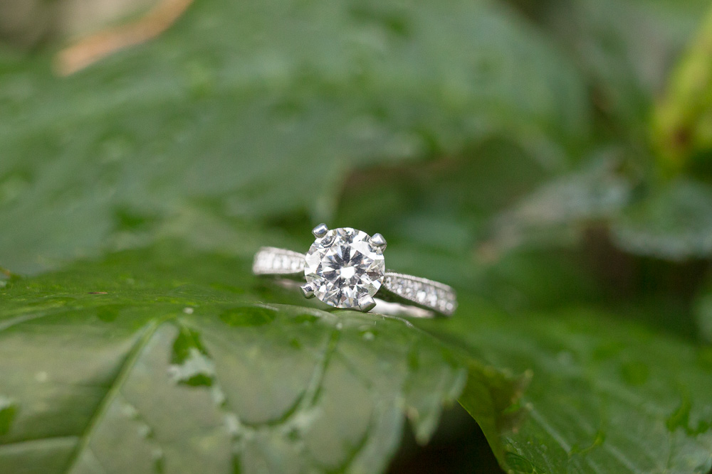 Diamond solitaire engagement ring | Northern Virginia Engagement Photographer