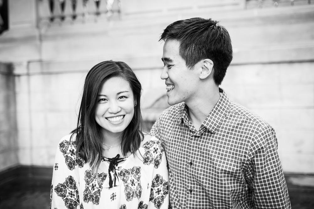 Classic engagement photo in Washington, DC