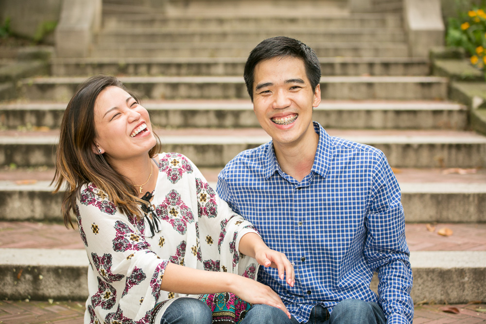 Laughter after the wedding proposal | Photojournalistic Northern Virginia Wedding Photographer