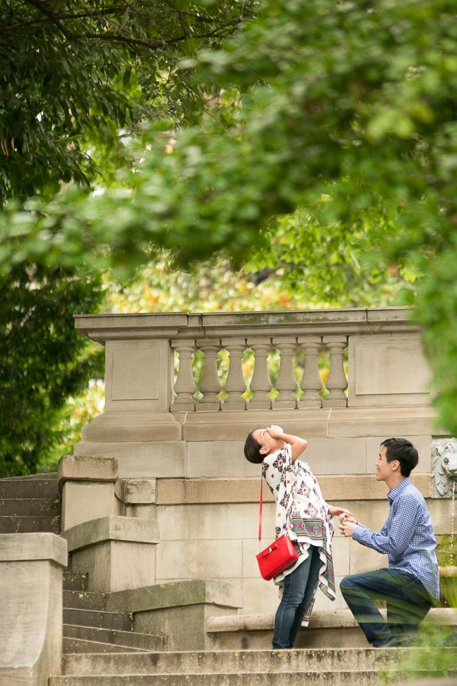 Surprise wedding proposal at the Spanish Steps | DC Photographer | Megan Rei Photography