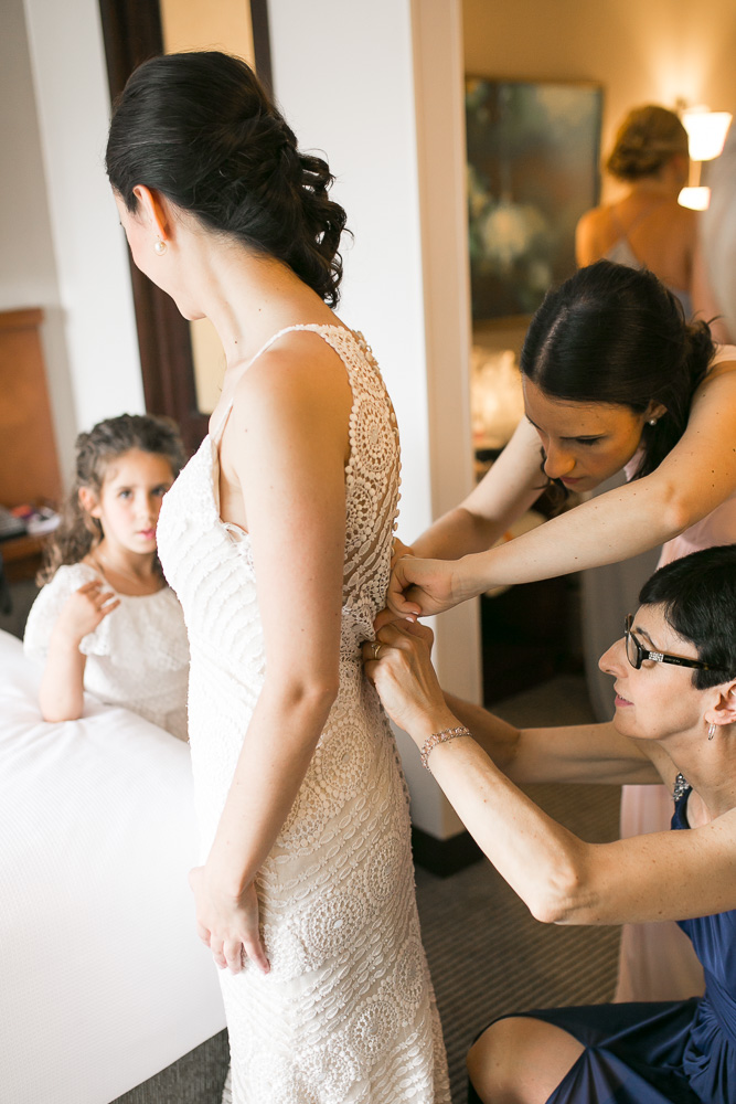 Candid getting ready photos at Hyatt Place | Virginia Wedding