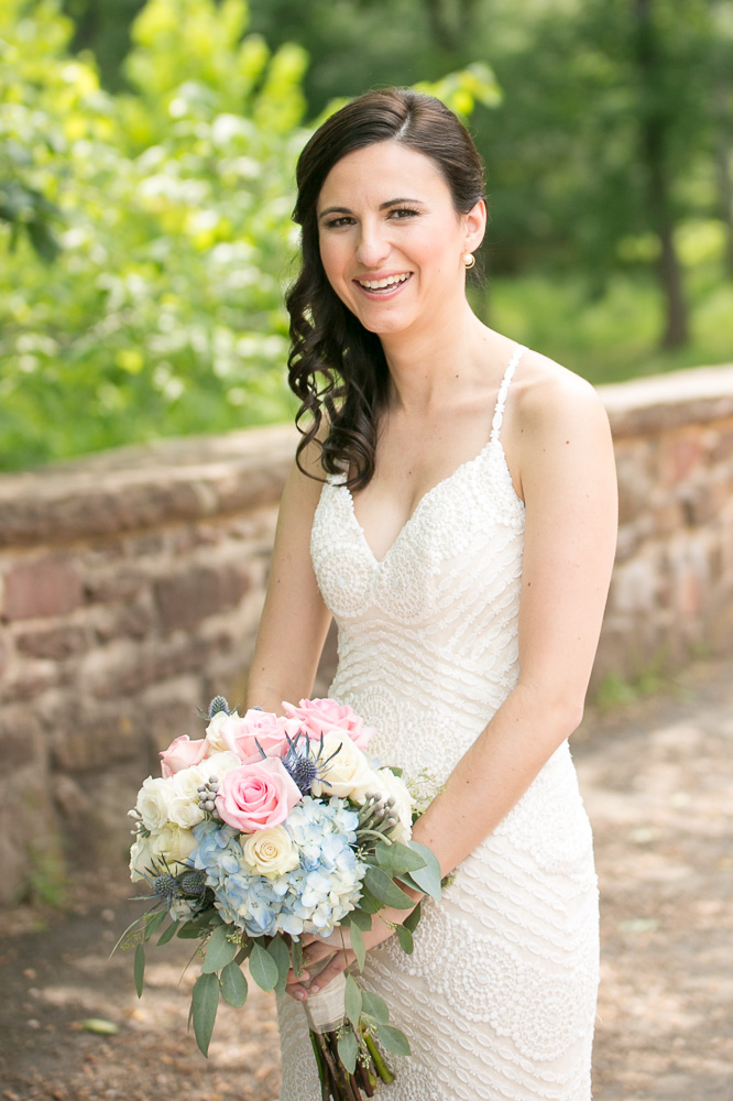 Bridal portrait | Summer wedding at the Winery at Bull Run in Northern Virginia | Hair and makeup by Agape Airbrush Makeup and Hair