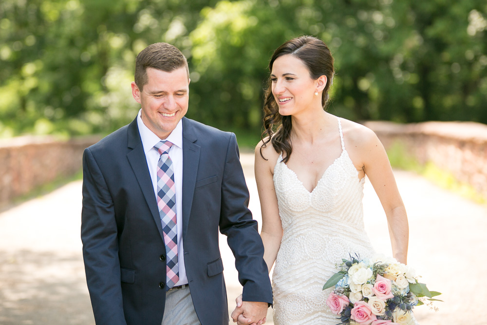 Happy couple on their wedding day | Centreville, Virginia Wedding Photographer | Summer wedding at Winery at Bull Run