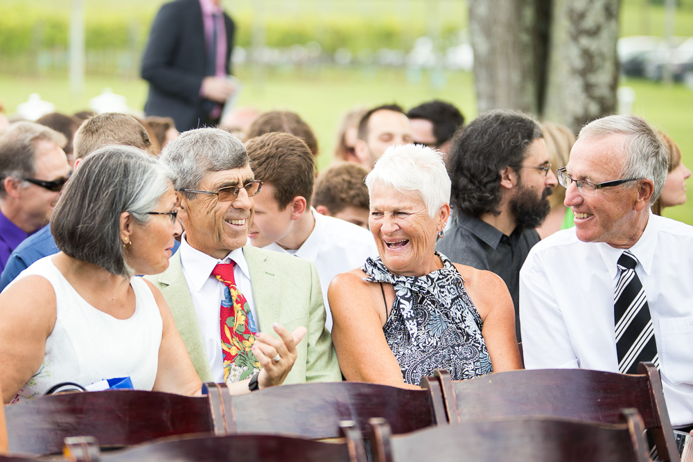 Wedding guests laughing | DC Candid Wedding Photographer | Megan Rei Photography