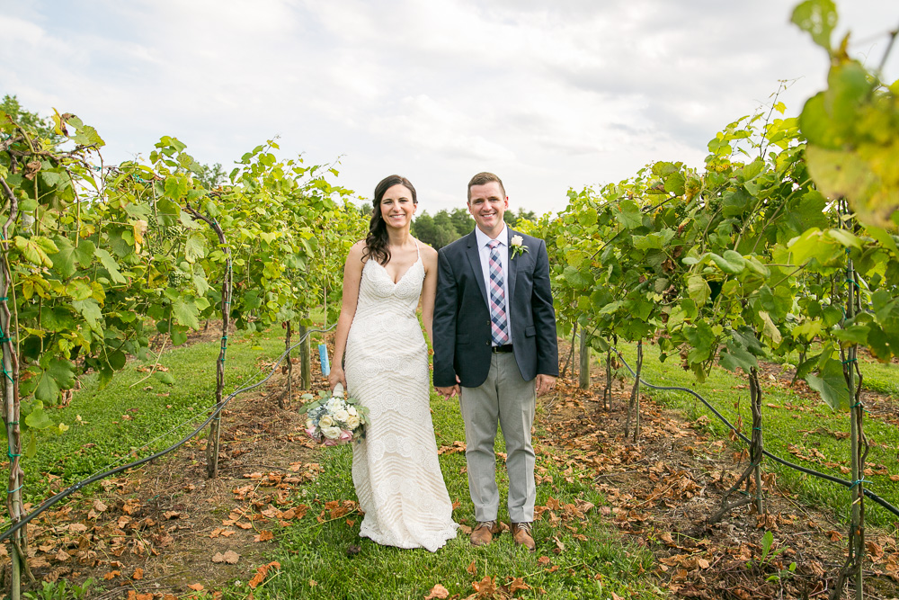 Wedding photos in the vineyard at Winery at Bull Run | Best Vineyard Wedding Venue in Virginia | DC Area Outdoor Wedding Locations