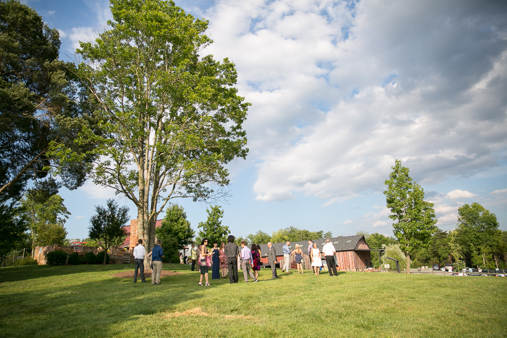 The Winery at Bull Run Summer Wedding | Ceremony site at the Hillwood Ruins