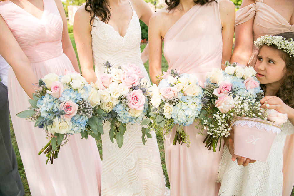 Bridal and bridesmaid bouquets from Flower Gallery of Manassas