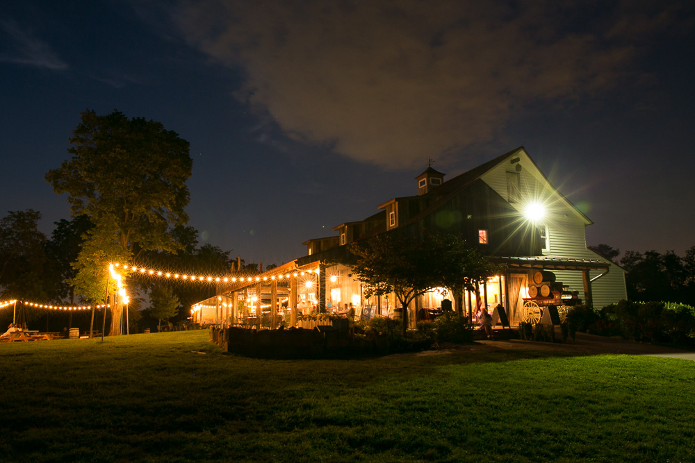 Night photo of The Winery at Bull Run, Centreville, Virginia | Best Wedding Venues in Northern Virginia | Megan Rei Photography