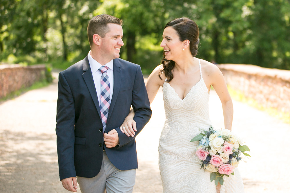 Bride and groom on the Stone Bridge | Manassas, VA