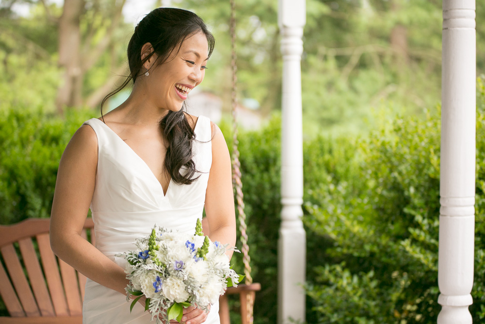Bridal portrait at Mountain Run Winery | Northern Virginia Documentary Wedding Photographer