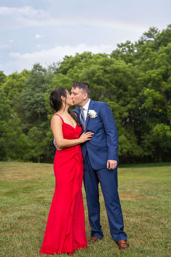 Rainy wedding day followed by a gorgeous rainbow in Culpeper, VA | Virginia Wedding Photographer