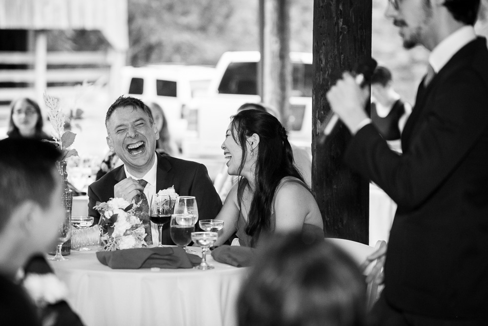 Funny wedding toasts | Documentary Virginia Photographer