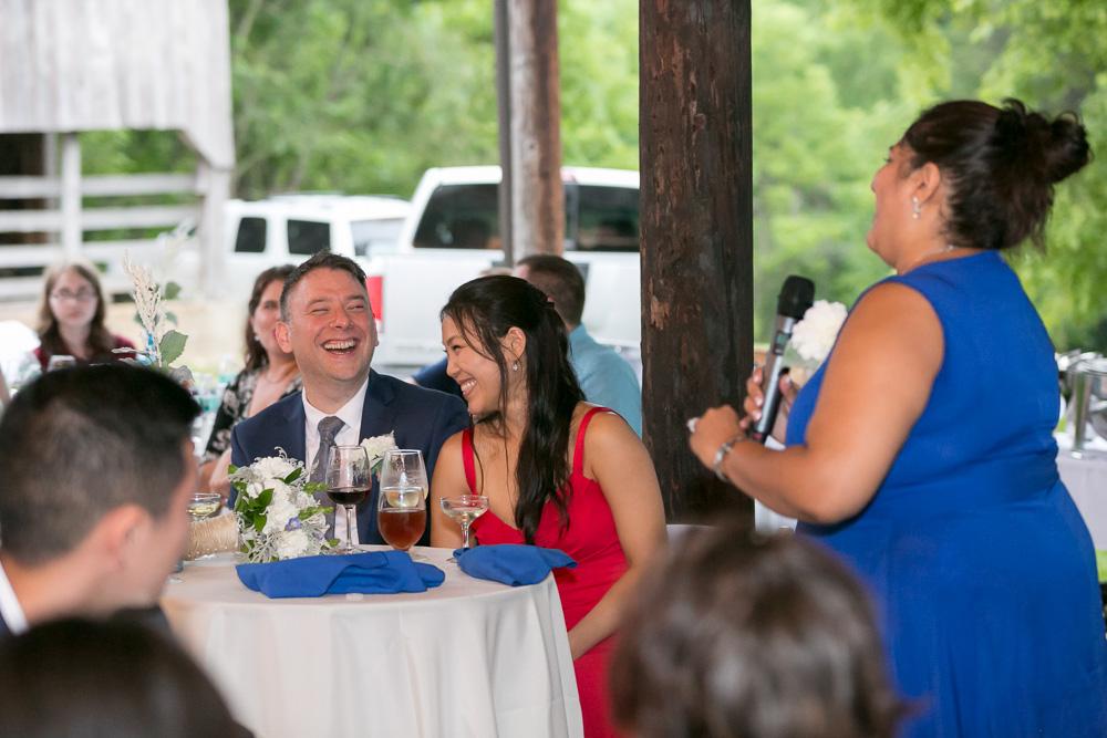 Funny wedding toasts   Documentary Virginia Photographer