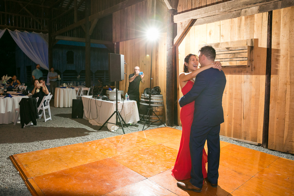 First dance as husband and wife | Barn Wedding in Northern Virginia