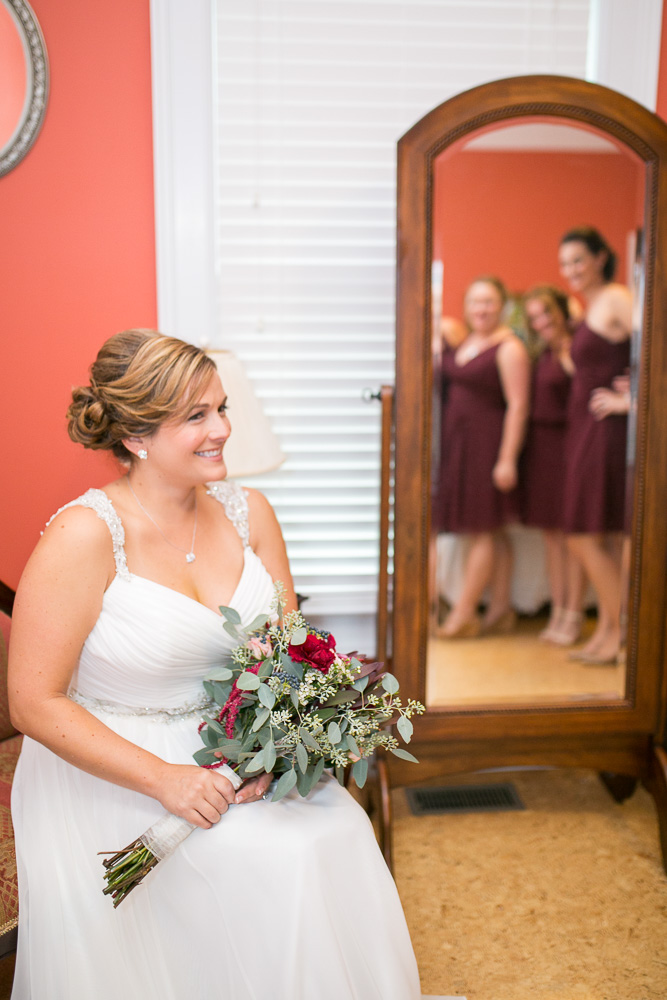 Bride and her bridesmaids | Mountain Run Winery | Best Culpeper Wedding Venues