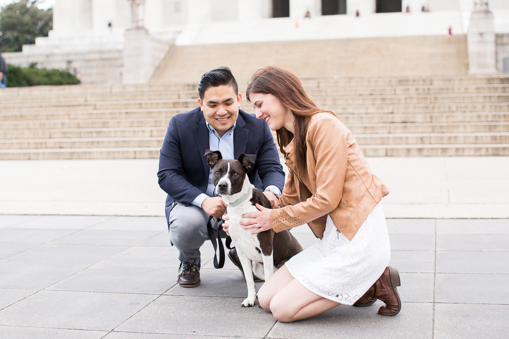 Engagement photos with dog | Washington DC Dog Photographer | Pet photography in Washington DC