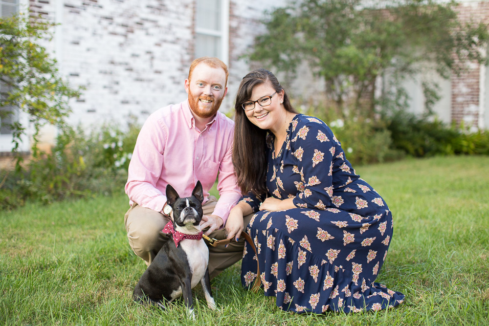 Engagement photos at the State Arboretum of Virginia in Boyce, VA