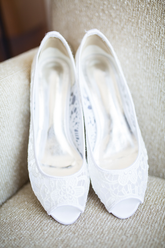 Bride's wedding shoes | Wedding Detail Photos at Westin Washington Dulles