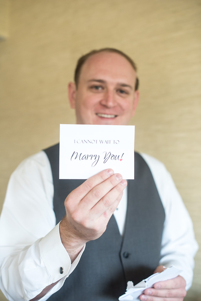 """""""I cannot wait to marry you"""" letter from the bride"""