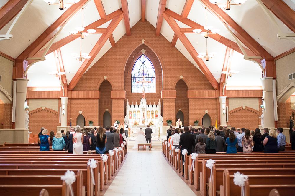 Beautiful church for a wedding ceremony | Saint Theresa Catholic Church, Ashburn Virginia | Catholic Churches for Wedding Ceremony in Northern Virginia
