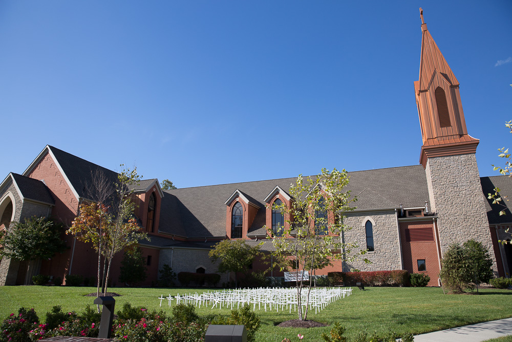 Wedding at St. Theresa Church in Ashburn, Virginia