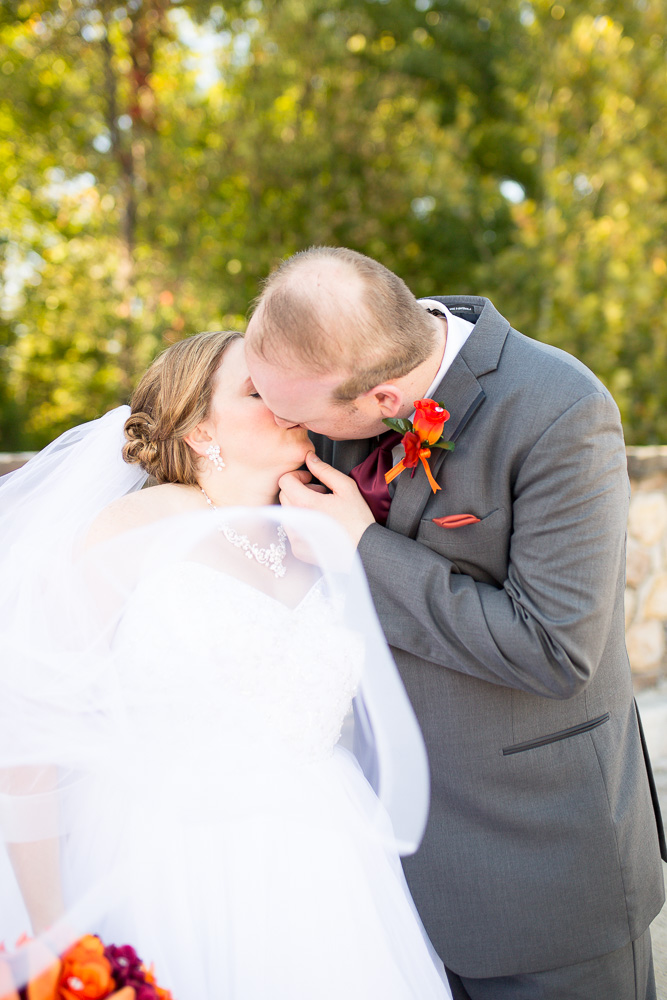 Groom going in for a kiss | Northern Virginia Wedding Photos